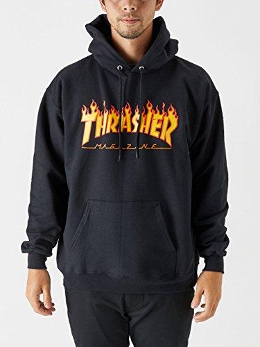- Thrasher Flame Logo Pullover Hoody Medium Black