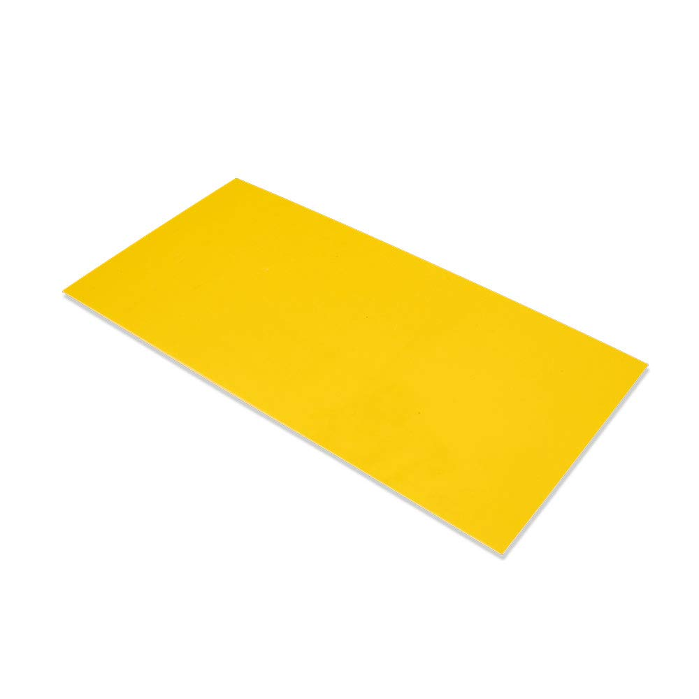 """G10 Spacer 5"""" X 10"""" X 1/32"""" Handle Material for knife making & gun making, (Yellow)"""
