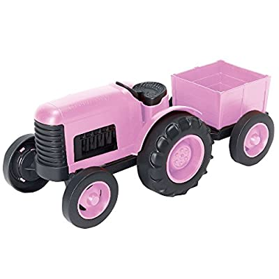 """Green Toys Tractor Vehicle Toy, Pink, 11.75"""" x 5.4"""" x 4.8"""" - 4038045 , B016IFLMK2 , 454_B016IFLMK2 , 21.95 , Green-Toys-Tractor-Vehicle-Toy-Pink-11.75-x-5.4-x-4.8-454_B016IFLMK2 , usexpress.vn , Green Toys Tractor Vehicle Toy, Pink, 11.75"""" x 5.4"""" x 4.8"""""""