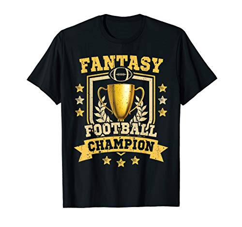 Fantasy Football Champion T Shirt Draft Party Champ -