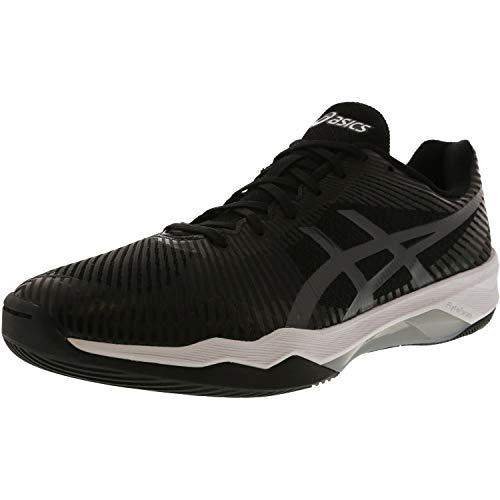 ASICS Womens Volley Elite FF Volleyball Shoe, Black/Dark Grey/White, 11 Medium US