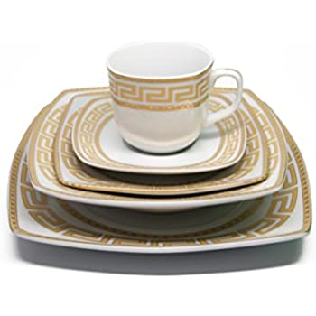 Royalty Porcelain 20-Piece Old-Fashioned White Gold-plated Dinnerware Set w/  sc 1 st  Amazon.com & Amazon.com | 222 Fifth 1154GD799A1 Casbah 16 Piece Dinnerware Set ...