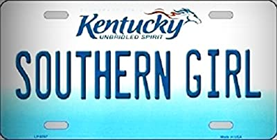 Southern Girl Kentucky Novelty Metal License Platefor Home / Man Cave Decor by PrettyMerchant