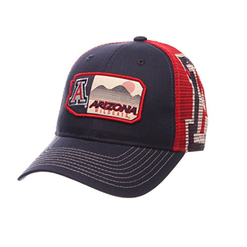 NCAA Arizona Wildcats Men's Interstate Trucker Cap, Adjustable, Navy -