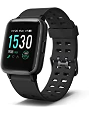 """Letsfit Smart Watch, Fitness Tracker with Heart Rate Monitor, Activity Tracker with 1.3"""" Touch Screen, IP68 Waterproof Step Counter, Sleep Monitor, Pedometer Smartwatch for Women Men Kids"""