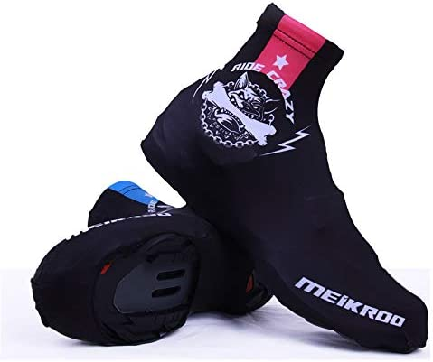サイクリングシューズカバー スポーツマウンテンバイク乗馬靴カバー防風防塵アウトドアスポーツ靴カバー ロードバイクシューズカバー (色 : Black, Size : M)