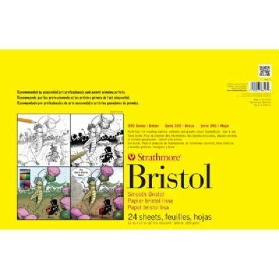 3 Pack 300 Series Sequential Art Bristol Paper 11'' x 17'' (Product Catalog: Paper Media, Canvas & Surfaces) by Strathmore