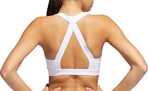 adidas Women's Ace Graphic Sports Bra (XL, White/Black)