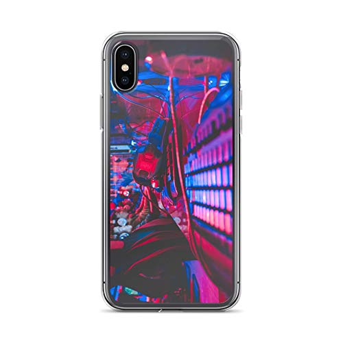 iPhone X/XS Case Anti-Scratch Gamer Video Game Transparent Cases Cover Alive in The Night Gaming Computer Crystal Clear -