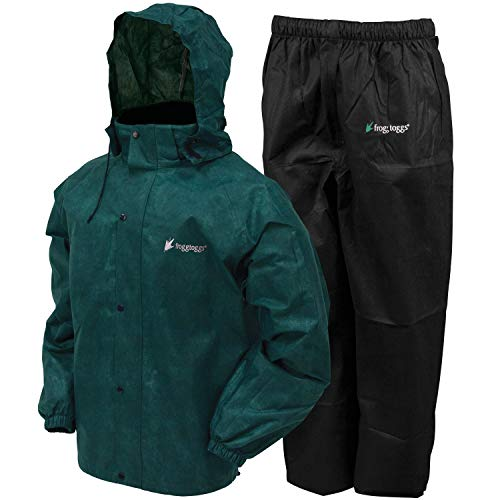 Direct Shift Boot - Frogg Toggs All Sport Rain Suit, Dark Green Jacket/Black Pants, Size Medium