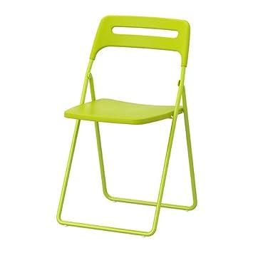 IKEA NISSE - Silla plegable, verde: Amazon.es: Hogar