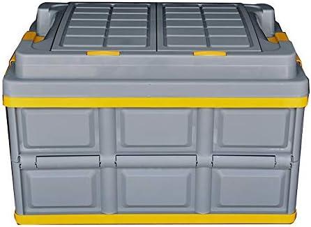 カーオーガナイザートランク ふた付きのストレージビン - ストラップハンドルと折り畳み式の車のトランク収納ボックス3イン1マルチフォーマットのパーティションストレージ大容量ポータブル荷物預かりオーガナイザー -カーアクセサリー (Color : A)