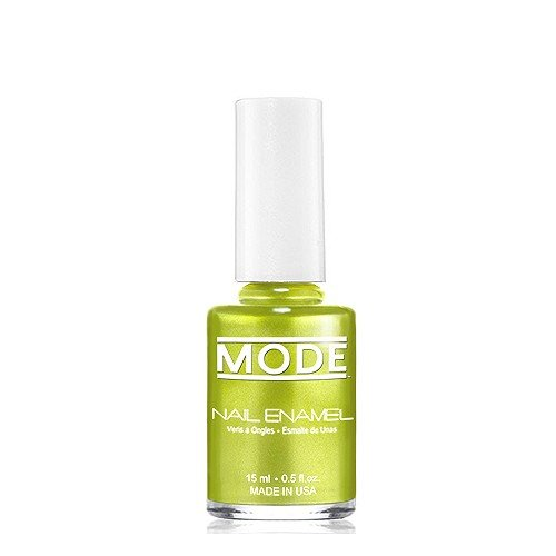 (Mode Nail Enamel (Chartreuse Green Gold Drenched Frost Pearl - Shade #145) Long Wear, High Gloss, Chip Resistant, Cruelty Free and Vegan, Salon Nail Polish Formula Made in The Beautiful USA .50 fl oz)