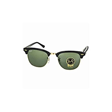 6021bbbfc Image Unavailable. Image not available for. Colour: Ray-Ban Sunglasses  Clubmaster RB3016 W0365 Ebony Black/Arista Gold/Crystal Green,