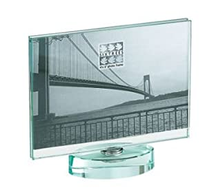 double sided rotating spinner glass photo frame