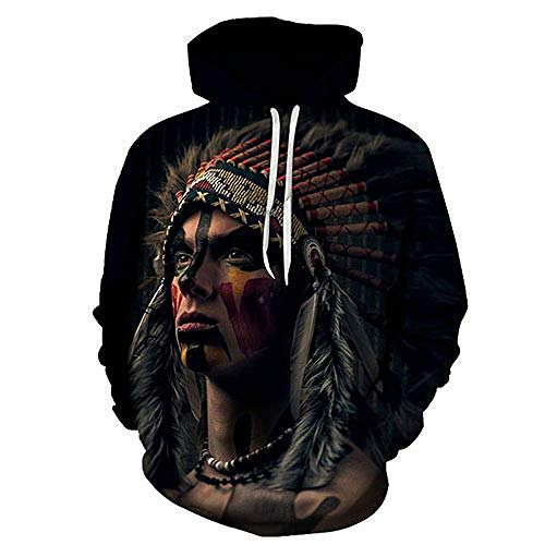 FimGGe Native American Printed Hoodies Men Sweatshirts 3D Hoody intage Tracksuits Harajuku Coat Fashion Pullover Autumn-AFKH2101,XL