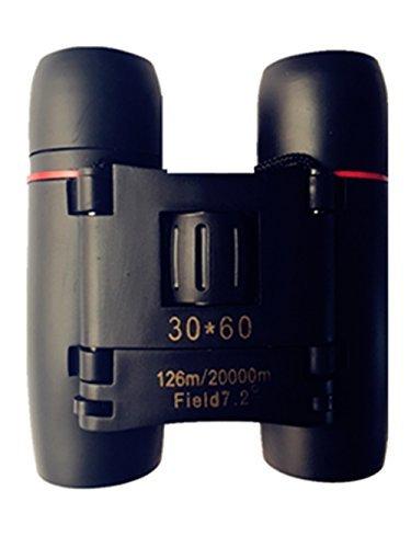 Folding Binoculars, SLDL Professional Compact Optics HD 30x60 Folding Binoculars Telescope with Low Light Night Vision for outdoor birding, travelling, sightseeing, hunting, etc