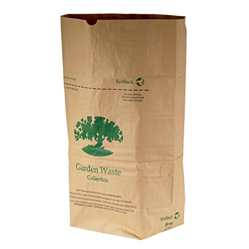 All-Green 75 Litre Paper Compostable Garden Waste Sacks with 10 Bags, Brown