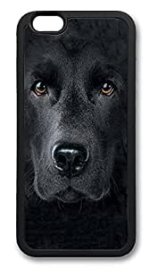 iPhone 6 Cases, Black Labrador Big Face Durable Soft Slim TPU Case Cover for iPhone 6 4.7 inch Screen (Does NOT fit iPhone 5 5S 5C 4 4s or iPhone 6 Plus 5.5 inch screen) - TPU Black