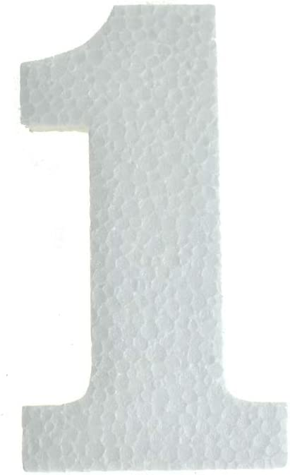 "4-3//4-Inch 12-Count Craft Styrofoam Number Cut Out /""5/"""