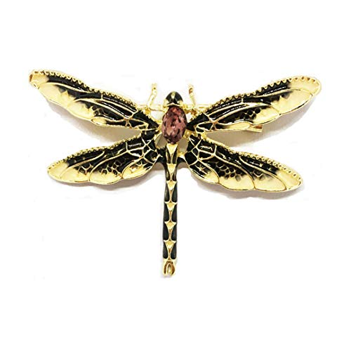 Gorgeous Dragonfly Pin - Dragonfly Brooches For Women Green Enamel Insect Crystal Dragonfly Brooch Men Suit Dress Pins And Brooches Yellow