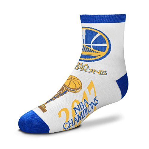 Socks Nba For Feet Bare Quarter - For Bare Feet Golden State Warriors 2017 NBA Champions Youth Size Quarter Socks (Approx. 4-8 Years Old)