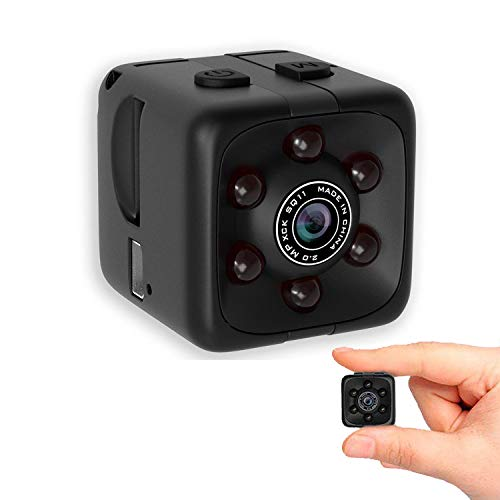 Mini Wireless 1080P Security Camera Motion Activated Small Indoor Outdoor Nanny Cam for Cars Home Apartment (Exclude SD Card)