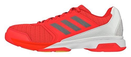 adidas Multido Essence, Zapatillas de Balonmano para Hombre Rojo (Rojsol / Nocmét / Ftwbla)