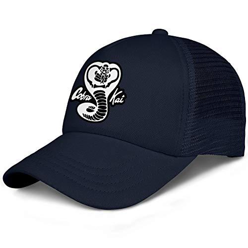 - SHTHYTS Mens Cobra-Kai-Black-White-Snake-Logo-Adjustable Snapback Hat Cotton Hunting Trucker Dad Baseball Caps