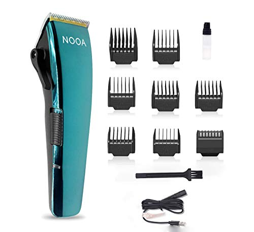 Cordless Rechargeable Hair Clippers for Men, Professional Hair Cutting Kit, Haircut & Hair Trimmer Kit for Barber and Home Use, R-Shaped Safety Cutter Head, Strong Power and Low Vibration