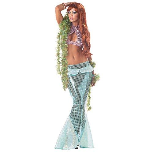 California Costumes Women's Mesmerizing Mermaid,Green,Med...
