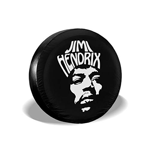 Spare Tire Cover Jimi Hendrix American Rock Guitarist Face Logo Wheel Covers Universal Tires Protectors
