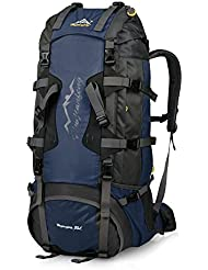 VBIGER 80L Hiking Backpack for Men and Women with Rain Cover and Internal Frame