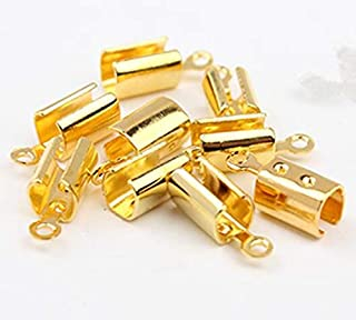 Laliva 100pcs End Caps/end Fasteners fits 4mm Leather Cord Crimp Beads Fastener Clasps for DIY Necklace connectors Jewelry Making Z651 - (Color: Antique Bronze)