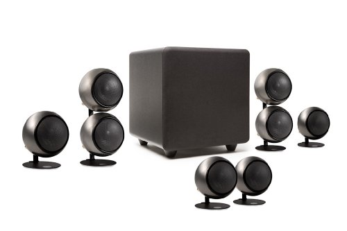 Buy Orb Audio People's Choice 5.1 Home Theater Surround Sound Speaker System in Hand Polished Steel (online)