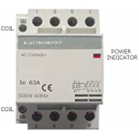 63Amp NO Contactor 4 Pole, Coil 120VAC Heating or Lighting Designer Modular with status indicator