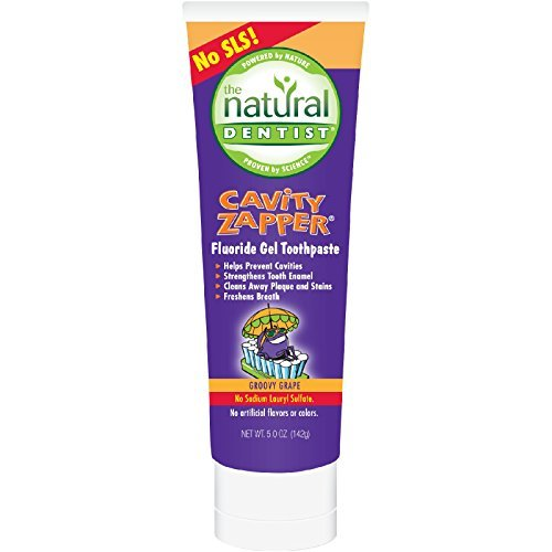 2 Packs of Natural Dentist Kids Cavity Zapper Toothpaste Buster Groovy Grape - 5 Oz by Natural Dentist