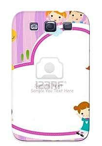 Situssptn HBLiZMC887vWBmT Case For Galaxy S3 With Nice Cartoon Cute Kid Frame Clip Art Libre De Droit Vecteur Et Appearance