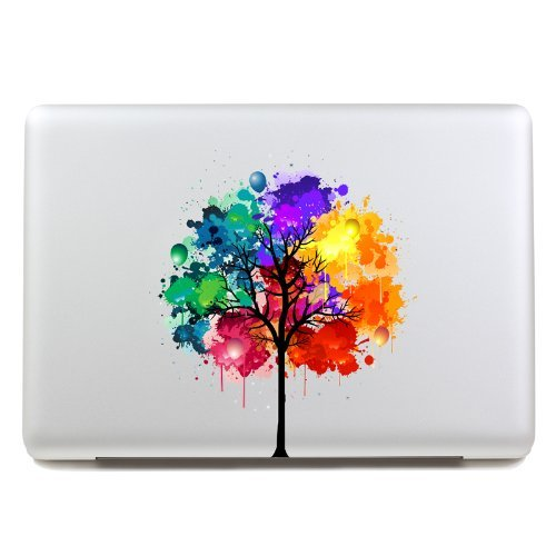 LoveDecalHome macbook decal colors tree Macbook sticker partial cover Macbook Pro decal Skin Macbook Air 13 Sticker Macbook - Stickers Laptop Decal