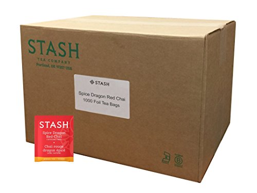 Stash Tea Teabags Spice Dragon Red Chai 1000 Count Individual Red Herbal Tea Bags for Use in Teapots Mugs or Cups, Brew Hot Tea or Iced Tea by Stash Tea (Image #4)