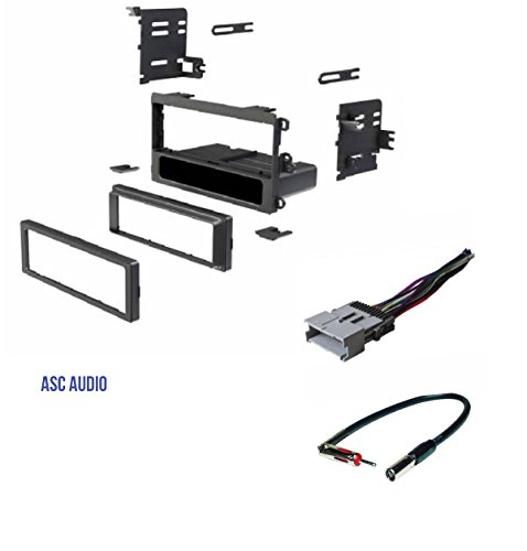 - ASC Car Stereo Dash Kit, Wire Harness, Antenna Adapter to Install a Single Din Radio for 2003-2008 Pontiac Vibe, 2003-2004 Toyota Matrix