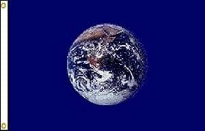 """12x 1812""""x18"""" Planeta Tierra barco bandera de motocicleta latón ojales colores vivos y ultravioleta resistente a la decoloración–cabecera y poliéster MATERIAL"""