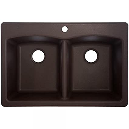 Franke EDDB33229-1 Granite Double Bowl Kitchen Sink, One Size, Mocha