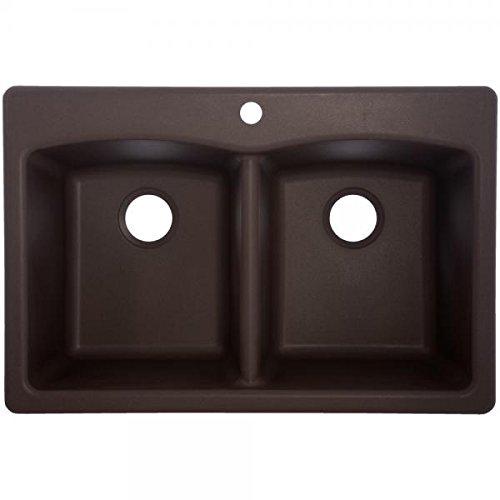 Franke EDDB33229-1 Granite Double Bowl Kitchen Sink, One Size, Mocha (Best Granite For Dark Brown Cabinets)