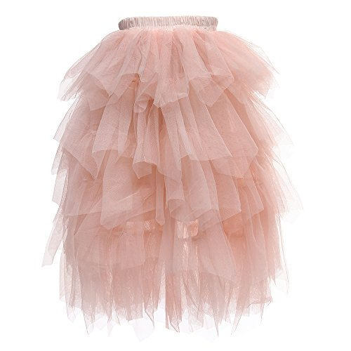 (Flower Girls Tutu Lace Cake Dress Skirts Princess Birthday Party Dresses (Pink Skirts, 8T))