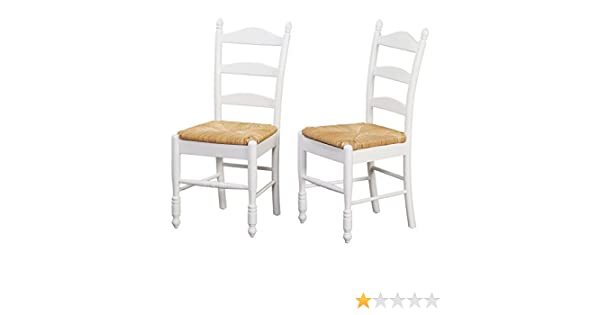 Amazon.com   Target Marketing Systems Modern Ladder Back Sitting Chair, Set  Of 2, White   Chairs