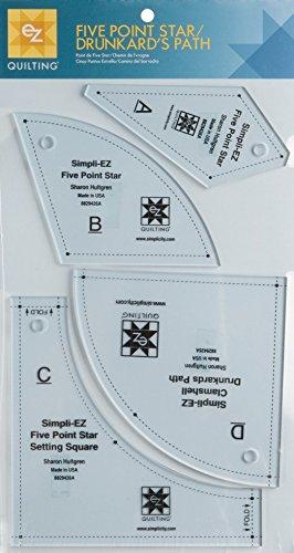 amazon com ez five point star drunkards path acrylic quilting