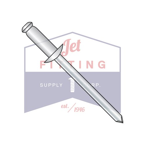 1/4X.02-.12 Blind Rivets | Stainless Body - Steel Mandrel | Dome Head | Body: 18-8 Stainless Steel | Pin: Carbon Steel (QUANTITY: 2000) by Jet Fitting & Supply Corp