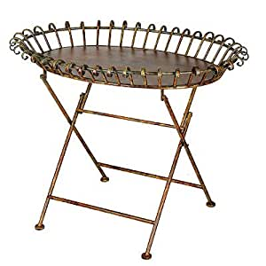 """Wrought Iron Planter Table Stand 32""""x22.5""""x24"""""""
