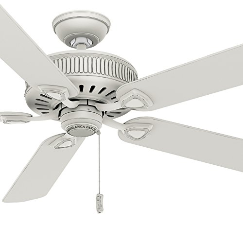 Casablanca 60 inch Cottage White Finish Ceiling Fan with 4 Speed Direct Drive Motor (Renewed)